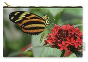 Butterfly Orange And Yellow Carry-all Pouch
