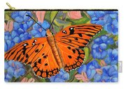 Butterfly Orange Carry-all Pouch
