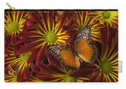 Butterfly Resting On Chrysanthemums Carry-all Pouch