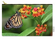 Butterfly Resting On Flower Carry-all Pouch