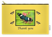 Butterfly Thank You Card Carry-all Pouch