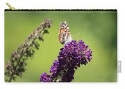 Butterfly With Flowers Carry-all Pouch