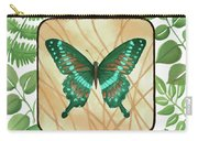 Butterfly With Leaves 2 Carry-all Pouch