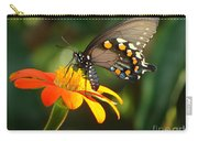 Butterfly With Orange Flower Carry-all Pouch
