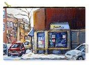 Buy Original Montreal Paintings Beauty's Winter Scenes For Sale Achetez Petits Formats Tableaux  Carry-all Pouch