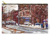 Buy Original Paintings Montreal Petits Formats A Vendre Scenes De Pointe St Charles Cspandau Artist Carry-all Pouch