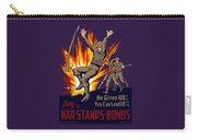 Buy War Stamps And Bonds Carry-all Pouch by War Is Hell Store