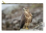 Buzzard On Rocks Carry-all Pouch