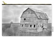 Bw Rustic Barn Lightning Strike Fine Art Photo Carry-all Pouch