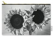 Bw Sunflowers #002 Carry-all Pouch