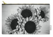 Bw Sunflowers #010 Carry-all Pouch
