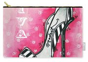 By Pink Design By Madart Carry-all Pouch by Megan Duncanson