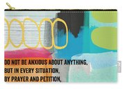 By Prayer And Petition- Contemporary Christian Art By Linda Wood Carry-all Pouch