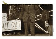 Charles A. Lindbergh And Spirit Of St. Louis 1927 Carry-all Pouch
