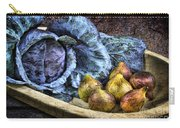 Cabbage And Figs Carry-all Pouch by Sari Sauls