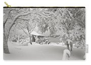 Cabin In Snow By The Sea Carry-all Pouch