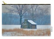 Cabin In The Snow - Valley Forge Carry-all Pouch