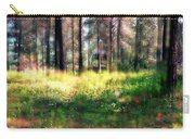 Cabin In The Woods In Menashe Forest Carry-all Pouch