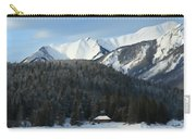 Cabin On Frozen Lake Carry-all Pouch