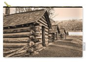 Cabins At Valley Forge In Sepia Carry-all Pouch