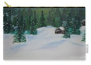 Cabins In The Woods Carry-all Pouch by Jimmy Clark