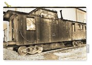 Caboose Black And White Carry-all Pouch