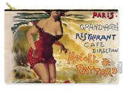 Cabourg - Paris - Grand Hotel - Vintage Restaurant Advertising Poster Carry-all Pouch