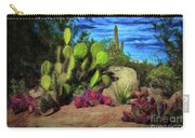 Cacti And Rock Carry-all Pouch