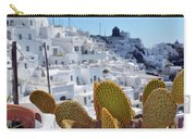 Cacti In Santorini, Greece Carry-all Pouch