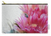Cactus Flower And A Busy Bee Carry-all Pouch