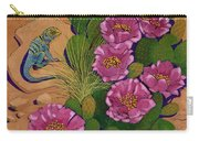 Cactus Flower Lizard Carry-all Pouch