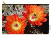 Cactus Flower Twins Carry-all Pouch