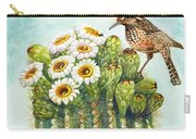 Cactus Wren And Saguaro Carry-all Pouch