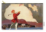 Cadenabbia Tremezzo, Golf And Tennis - Golf Club - Retro Travel Poster - Vintage Poster Carry-all Pouch