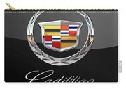 Cadillac - 3 D Badge On Black Carry-all Pouch