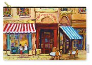Cafe De Vieux Montreal With Couple Carry-all Pouch