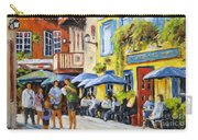 Cafe In The Old Quebec Carry-all Pouch
