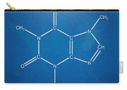 Caffeine Molecular Structure Blueprint Carry-all Pouch by Nikki Marie Smith
