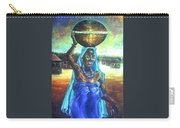 Calabash Lady In Blue Carry-all Pouch