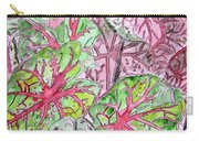 Caladiums Tropical Plant Art Carry-all Pouch
