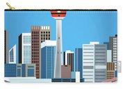 Calgary Alberta Canada Vertical Skyline Carry-all Pouch
