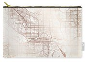 Calgary Street Map Colorful Copper Modern Minimalist Carry-all Pouch