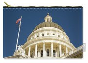California Capitol Cupola And Flag Carry-all Pouch