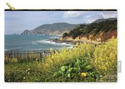 California Coast With Wildflowers And Fence Carry-all Pouch