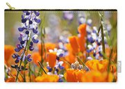 California Poppies And Lupine Carry-all Pouch