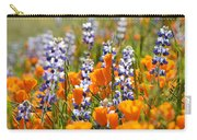 California Poppies And Lupine Wildflowers Carry-all Pouch