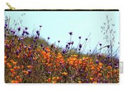 California Poppies And Wildflowers Carry-all Pouch