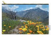 California Poppy And Mountain Panorama Carry-all Pouch