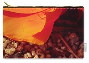 California Poppy And Scallop Shell Carry-all Pouch