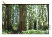 California Redwood Forest Trees Art Prints Carry-all Pouch